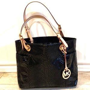 Michael Kors Snakeskin /Python Leather Tote Bag